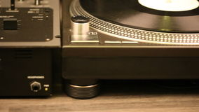 Dj equipment. In studio, slide footage stock footage