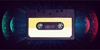 Dj. Fashion label sketch photo disco stereo vector illustration