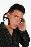 dj-favorit hans lyssnande musik till Arkivfoto