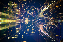 DJ and fireworks Royalty Free Stock Images