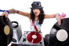 DJ fresco en la acción Imagenes de archivo