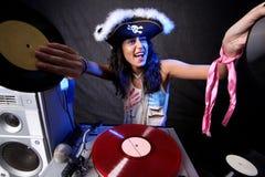 DJ fresco en la acción Fotos de archivo libres de regalías