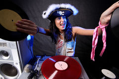 DJ fresco na ação Fotos de Stock Royalty Free