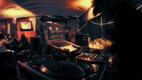 DJ fresco na barra video estoque