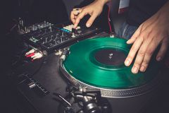 Dj Mixing Music Royalty Free Stock Photography