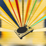 DJ-gesetztes Plakat Lizenzfreie Stockbilder