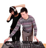 Dj and girl Royalty Free Stock Photos