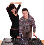 Dj and girl Royalty Free Stock Photography