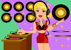 DJ girl Royalty Free Stock Images