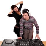 Dj and girl Stock Images