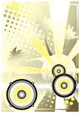 Dj golden poster background 4. Dj golden poster background in s Royalty Free Stock Images