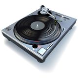 DJ Gramophone. High detailed vector illustration Royalty Free Stock Photos