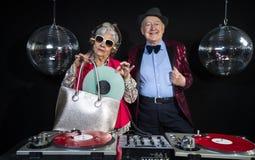 Dj grandma and grandpa Stock Photos