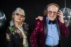 Dj grandma and grandpa Stock Image
