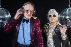 Dj grandma and grandpa Royalty Free Stock Photo
