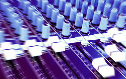 DJ Graphic equalizers & mixers Royalty Free Stock Photography