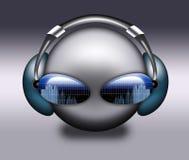 DJ grey symbol. Stock Photography