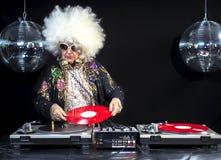 DJ-Großmutter und -großvater lizenzfreies stockfoto