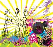 DJ grunge, Poster Stock Photography