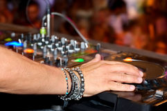 Dj hand Royalty Free Stock Photo