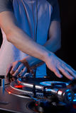 DJ hands Stock Images