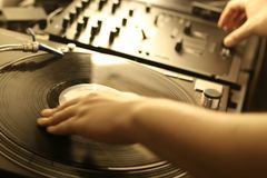 Dj hands Royalty Free Stock Photos