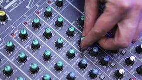 DJ hands stock video