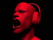 dj hełmofonów mężczyzna ilustracji