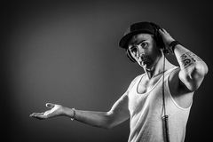 DJ Header - Black and White Royalty Free Stock Photos