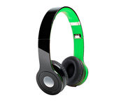 DJ Headphones. A view of DJ headphones, isolated on a white background Royalty Free Stock Images
