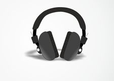 DJ headphones Stock Photo