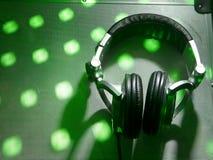 dj headphones Στοκ Φωτογραφίες