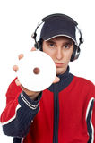DJ holding a disc Royalty Free Stock Photography
