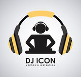 Dj icon design Royalty Free Stock Image