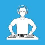 Dj icon design. Illustration eps10 graphic Stock Image