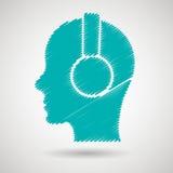 Dj icon design. Illustration eps10 graphic Stock Photo