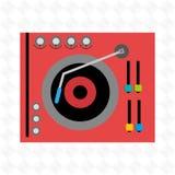 dj icon design Stock Image
