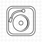 dj icon design Stock Photos