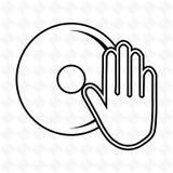 dj icon design Stock Photography