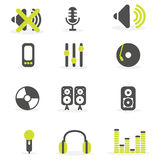 DJ icon set Royalty Free Stock Image