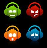 DJ Icons Royalty Free Stock Photo