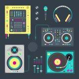 DJ icons Stock Image