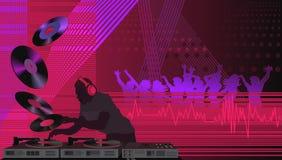DJ im Haus Stockfotos