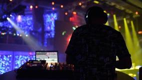 DJ im Klumpen stock footage