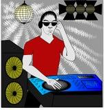DJ im Rot Stockbilder