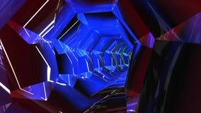 DJ impresionante va de fiesta la animación del túnel almacen de metraje de vídeo