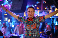 Free DJ In A Club Raised His Hands Up Stock Photo - 31682570