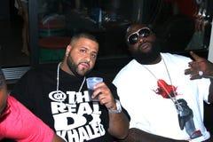DJ Khaled e Rick Ross imagem de stock