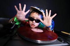 DJ kid in action Stock Image