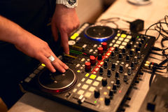 DJ koppeln Station an stockfotos